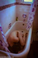 depressed male nude in bath 3 by TheMaleNudeStock