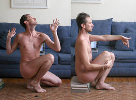 Crouching Male Nudes by TheMaleNudeStock