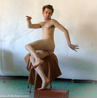Flying Male Nude by TheMaleNudeStock
