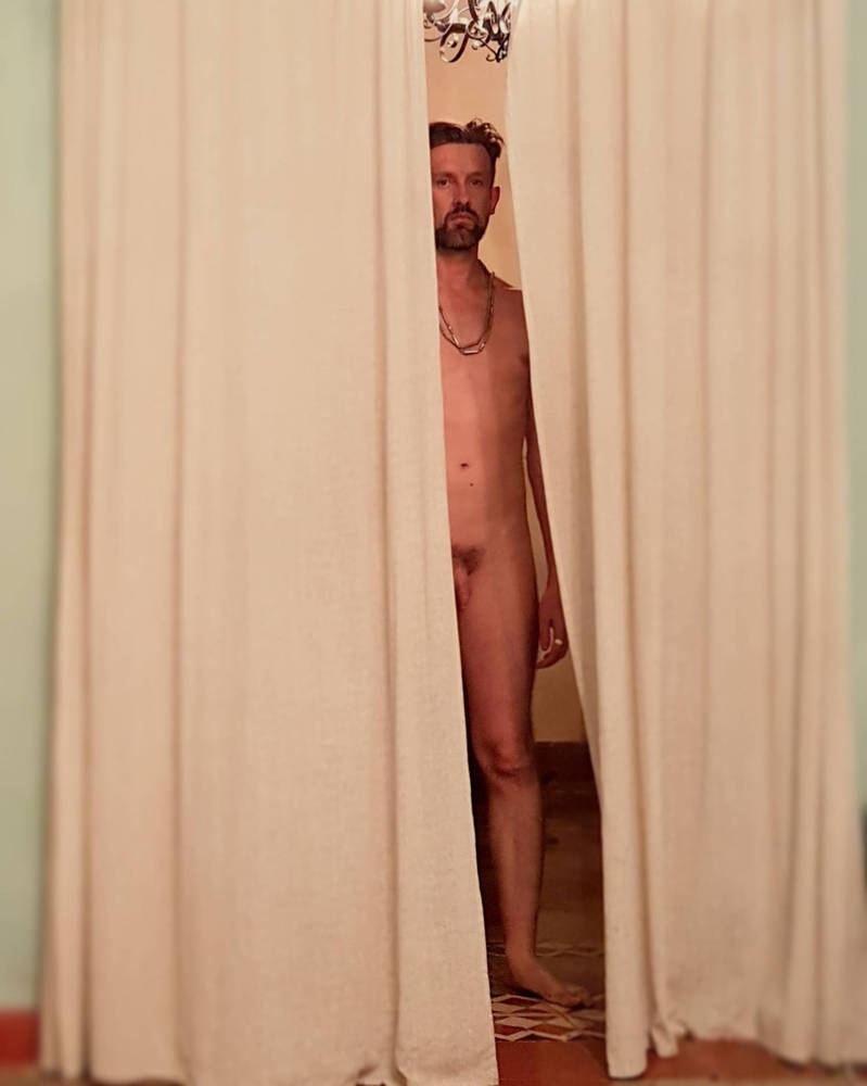 powder blue room, male nude 8 by TheMaleNudeStock