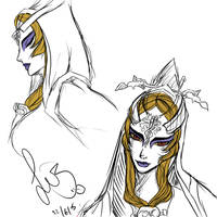 Midna Sketches by pineappleicecream