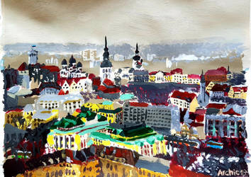 A view of Tallinn from Maakri highrise by archiei
