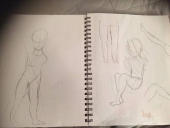 Sketches of Smexy Legs by ObviouslyNat