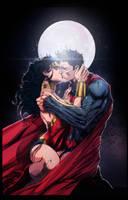 Superman and Wonderwoman by yinfaowei