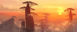 Sunset Isle by yinfaowei
