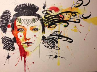 watercolor Padme by slippyninja