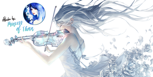 Girl with Violin Render by Princess-of-Thorn