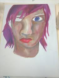 Self Portrait WIP by mrsbilliejean