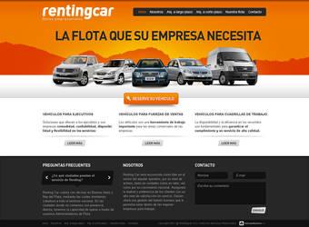 Car Renting Homepage by zeba5