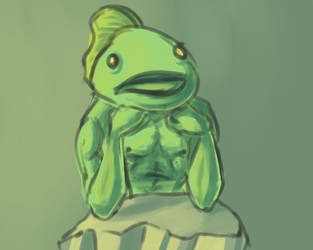 Fishmanwaitsforyou by Cleocatra