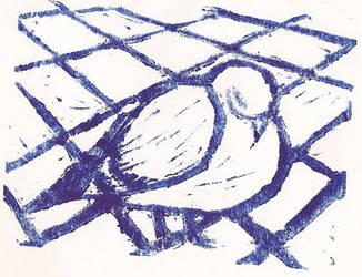 pigeon print by Cleocatra