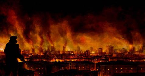 burning district by sancient