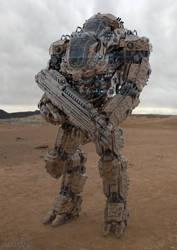 Juggernaut Mech Design desert by sancient