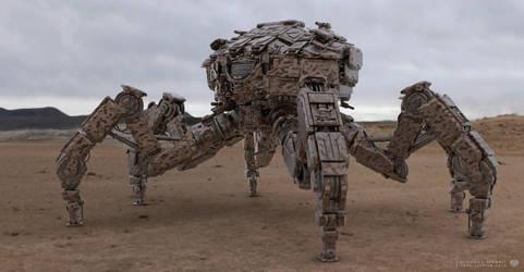 Desert War Rig Mech Design by sancient