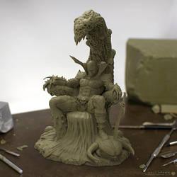 Hell Spawn Sculpt by sancient