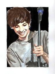 Louis Tomlinson watercolor by Amnesia5sos