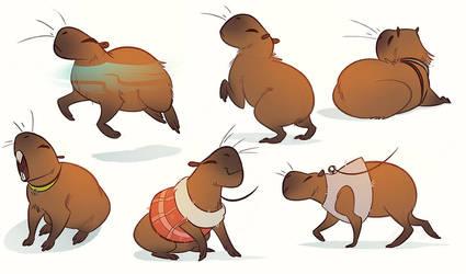 capybaras by CoconutMilkyway