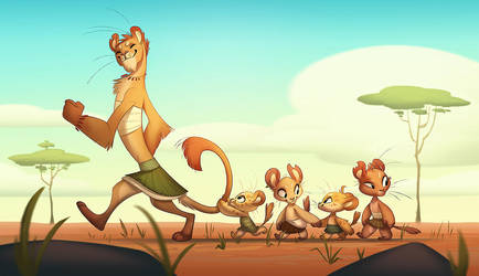 Lion parade by CoconutMilkyway