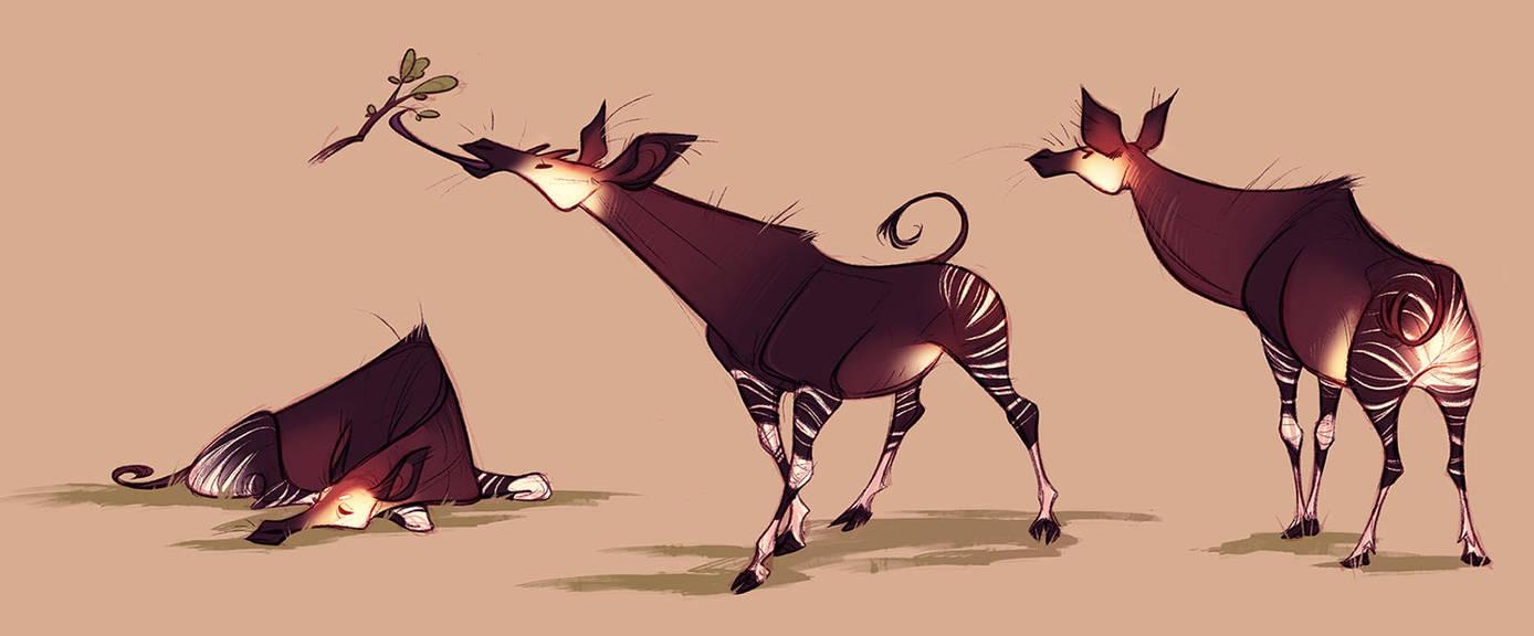 Okapis by CoconutMilkyway