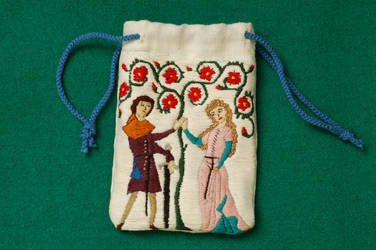 embroidered pouch by M-n-M-s