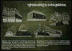 Typography is Everywhere by believeinsketching
