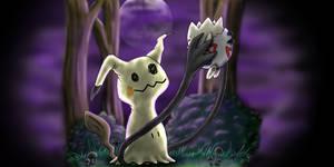 Mimikyu and Togepi by Haymurus