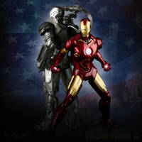 Iron Man and War Machine v2 by zeebow14