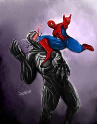 Venom vs Spider-Man by FitraSantos