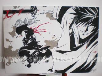 Samurai deeper Kyo-painting by Master-Sheron