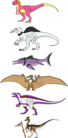 Dino forms Remake by Carolzilla