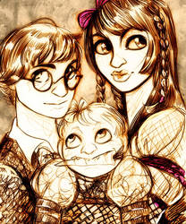 Baudelaire Orphans by DrMistyTang