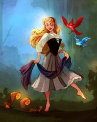 She Walks With Springtime by DrMistyTang