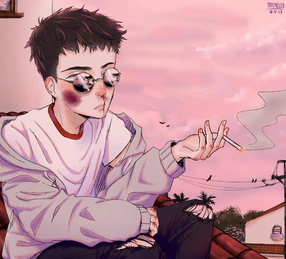 boy smoking cigarette by MajoNari-chan