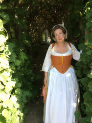 Undressed in the 18th century garden by Isiswardrobe
