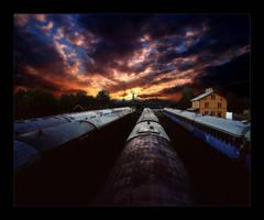 the settin train yard. by Circumflex