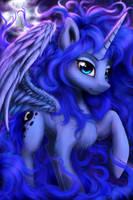 Lunar Horse by Salterino