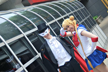 Acen: Tuxedo Mask and Sailor Moon by tothestarsandback