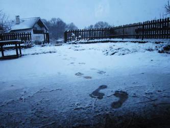 First Snow First Steps by Girdamin