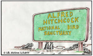 AlfredHitchcock Bird Sanctuary by ibnelson
