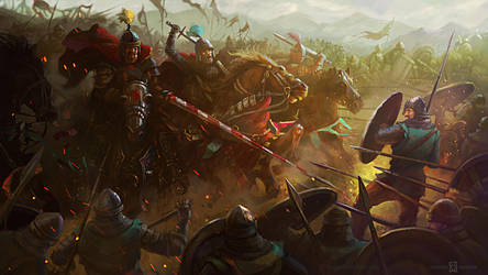 Medieval battle by agyany