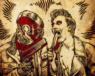 Red Hood vs Joker Cosplay by gladlad