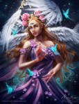 Elinael ~ Angel of Mysticism and Transformations by Amourinette