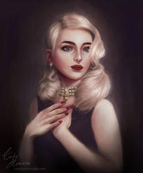 Amelie Marcoud COMMISSION by Amourinette