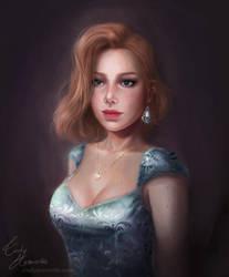 Leofrida classic portrait (COMMISSION) by Amourinette