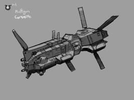 Somtaaw Multi-Gun corvette by Norsehound