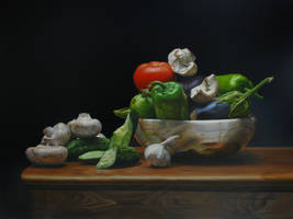 still life with vegetables by andrianart