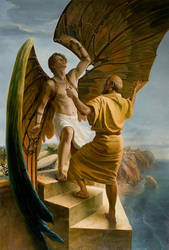 Icarus And Daedalus by andrianart