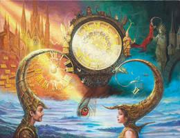 Clock in progress by yalex