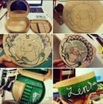 Taurus Zodiac Sign Mandala - Handmade jewelry box by elenoosh
