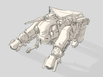 Junk-Mech Salvaged Spider Tank Camper by StrictlyMecha